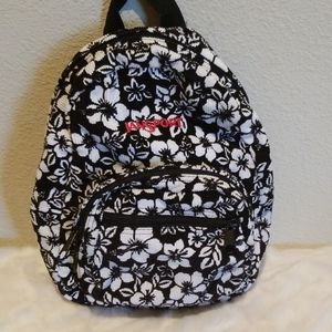 Jansport Mini Corduroy Black and White Backpack